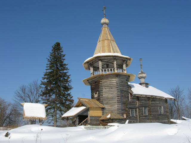 Часовня Георгия-Змееборца в деревне Усть-Яндома (XVIII в.)
