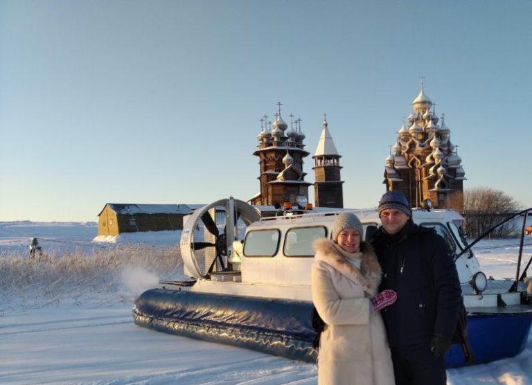 На Кижи зимой на Хивус